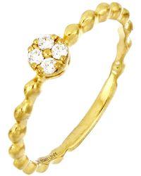 Bony Levy Beaded Clustered Diamond Ring - 0.07 Ctw - Metallic