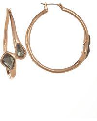 Robert Lee Morris - Green Stone 40mm Hoop Earrings - Lyst