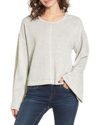 Lush - Tie Back Sweater - Lyst