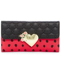 Betsey Johnson - Faux Leather Trifold Wallet - Lyst