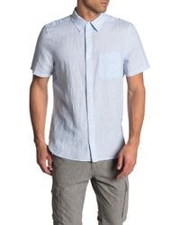 Calvin Klein - French Placket Short Sleeve Shirt - Lyst
