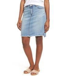 Caslon - Raw Edge Denim Skirt - Lyst