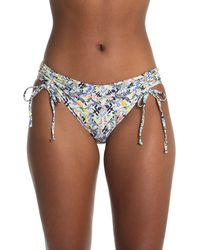 VYB Vitals Patterned High Leg Bikini Bottoms - Blue
