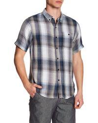 Ezekiel - Freestyle Plaid Short Sleeve Regular Fit Shirt - Lyst
