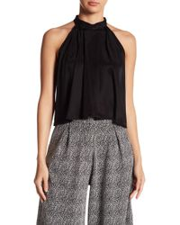 Native Youth | Mock Neck Pleated Blouse | Lyst