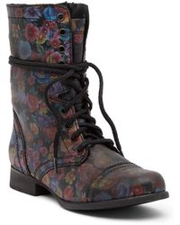 Steve Madden - Troopa Floral Combat Boot - Lyst