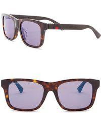 0fb847a7dd Lyst - Gucci 50mm Retro Sunglasses in Brown