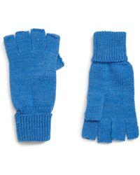 Trouvé Trouv? Fingerless Gloves - Blue