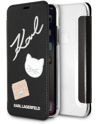 Karl Lagerfeld Embossed Bookty Iphone Case - Black