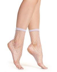 Free People - Sugar Sugar Fishnet Socks - Lyst