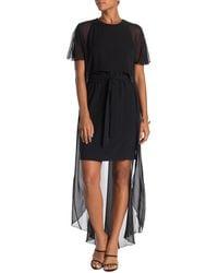 Trina Turk Capote Overlay Dress - Black