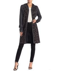 Go Couture Brushed Hacci Hooded Duster - Multicolor