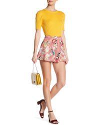 Jealous Tomato - Floral Stripe High Rise Shorts - Lyst