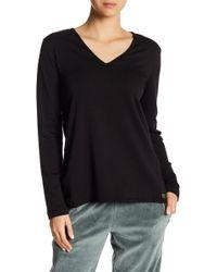 Natori - V-neck Brushed Sweater - Lyst