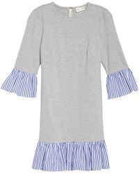 Eliza J - Flounce Hem Sweatshirt Dress - Lyst