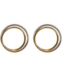 Argento Vivo - Two-tone Looped Open Circle Earrings - Lyst