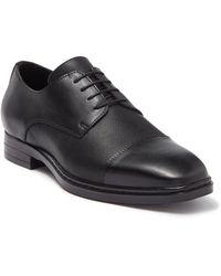 Karl Lagerfeld Cap Toe Leather Derby - Black