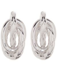 Judith Ripka Love Knot Sterling Silver Braided Stud Earrings - Metallic