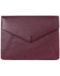 Aimee Kestenberg - Mandy Leather Envelope Sleeve Clutch - Lyst