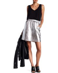 Thacker NYC - Lydia Genuine Leather Skirt - Lyst
