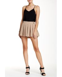 Lily White - Pleated Shorts - Lyst