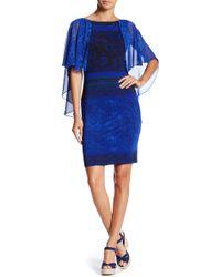 Analili - Baroque Printed Cape Dress - Lyst