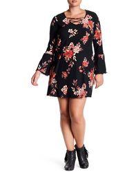 Derek Heart - Floral Bell Sleeve Dress (plus Size) - Lyst