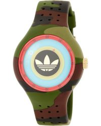 adidas Originals - Men's Ipswich Camo Print Silicone Strap Watch - Lyst
