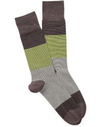 Cole Haan - Micro Stripe Crew Socks - Lyst