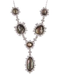 Nadri - Oasis Stone & Crystal Halo Y Drop Collar Necklace - Lyst