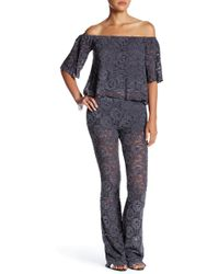 ANAMÁ - Floral Lace Pant - Lyst