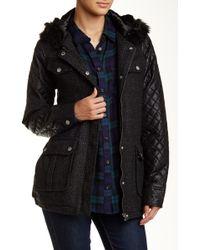 Volcom - Chill Spot Faux Fur Trim Jacket - Lyst