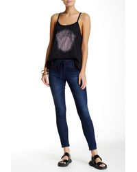 Volcom Lace-up Ankle Jean - Blue