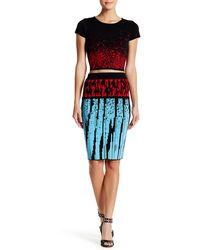 Wow Couture 2-piece Knit Crop Top & Skirt Set - Multicolour