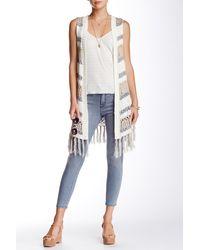 Blu Pepper - Fringe Trim Sweater Vest - Lyst