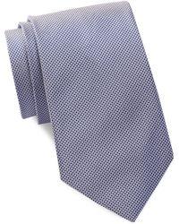 Bristol & Bull - Lavender & Blue Micro Medallion Silk Tie - Lyst