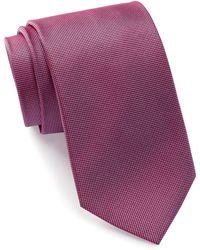 Bristol & Bull - Berry & Lavender Micro Medallion Silk Tie - Lyst