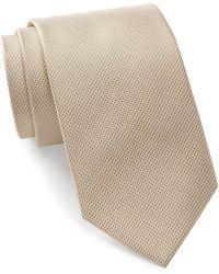 Bristol & Bull - Yellow & Grey Micro Medallion Silk Tie - Lyst