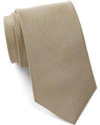 Bristol & Bull - Black & Gold Small Medallion Silk Tie - Lyst