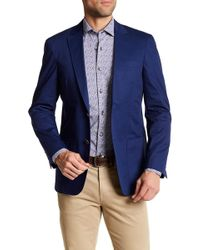 Borgo 28 - Unconstructed Blue Woven Two Button Notch Lapel Regular Fit Blazer - Lyst