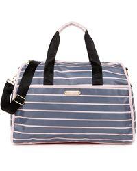 Betsey Johnson   Striped Nylon Weekend Bag   Lyst