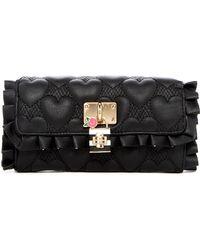Betsey Johnson - Be Lockable Faux Leather Wallet - Lyst