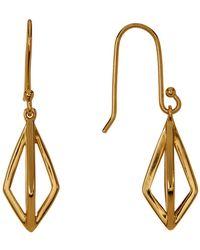 Botkier Diamond-shaped Drop Earrings - Metallic