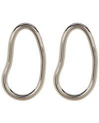 Botkier - Open Oval Drop Stud Earrings - Lyst