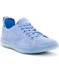 BLUPRINT Los Angeles Suede Perforated Sock Lined Sneaker - Blue