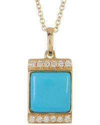 Bony Levy - 18k Yellow Gold Turquoise & Diamond Pendant Necklace - Lyst