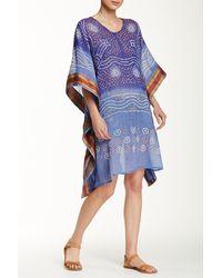 Raj - Blue Batik Caftan - Lyst