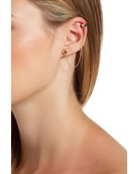 House of Harlow 1960 - Accented Pyramid Ear Cuff & Stud Earrings - Lyst