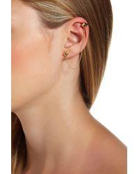House of Harlow 1960 - Blue Rhinestone Accented Pyramid Ear Cuff & Stud Earrings - Lyst