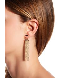 Vince Camuto | Chain Fringe Jacket Earrings | Lyst